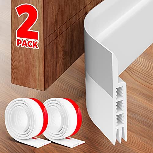 Holikme 2 Pack Door Draft Stopper Under Door Draft Blocker Insulator Door Sweep Weather Stripping Noise Stopper Strong Adhesive 37