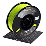 OVERTURE TPU High Speed Filament 1.75mm Flexible TPU Roll with 200 x 200 mm Soft 3D Printer Consumables, 1kg Spool (2.2 lbs.), Dimensional Accuracy +/- 0.05 mm, 1 Pack (Grass Green)