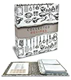Recipe Binder, 8.5' x 9.5' 3 Ring Binder Organizer Set (with 50 Page Protectors, 100 4' x 6' Recipe Cards & 12 Category Divider Tabs) by Better Kitchen Products, Sleek Kitchen Design