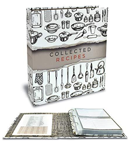 16-Sheet Set Preprinted Cookbook Index Dividers for 8.5 x 11 Binders