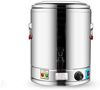 ステンレス製断熱バケット電気沸騰水バケツ商用の大容量給湯バケツ二層煮ミルクティー絶縁バケット燃焼バケット豆乳バケツ20L-80L (Color : Silver-C, Size : 80L)