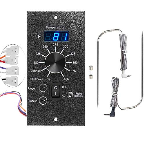 Digital Thermostat Kit for Traeger Control Panel Kit Parts Replacement, Upgrade Digital Thermometer Pro Controller Temperature Control Board for Traeger Pellet Grills, with Dual Meat Probes