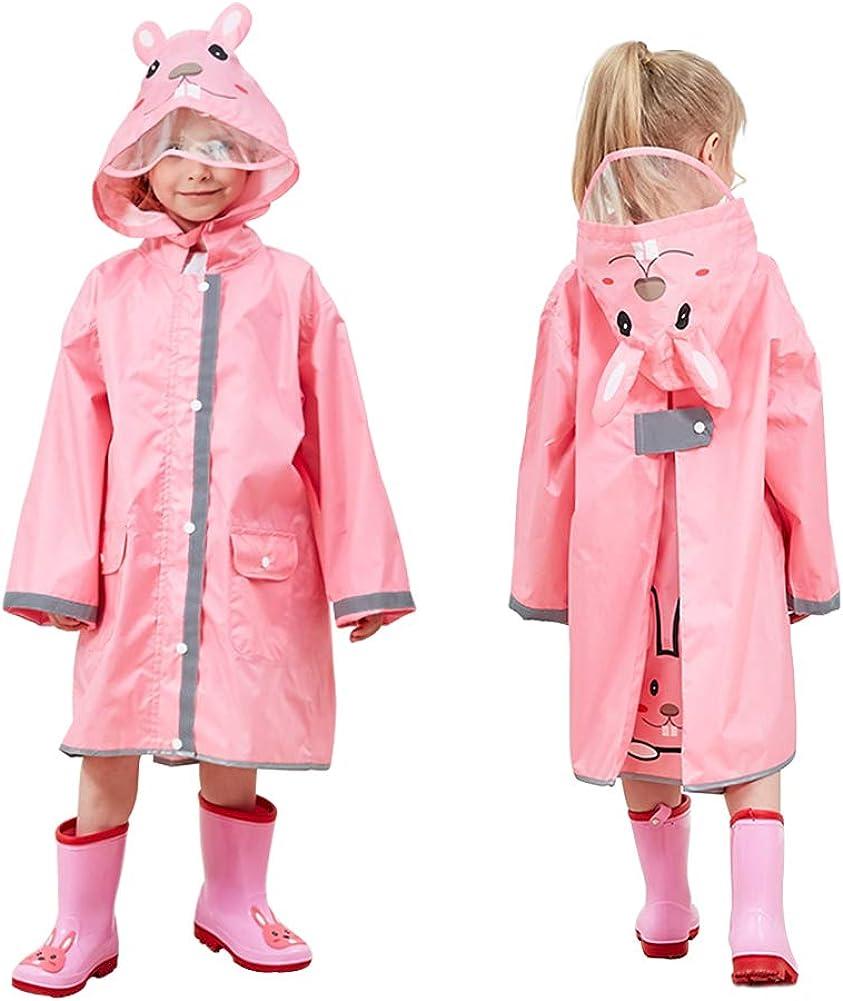 Kids Rain Wear,3D Cartoon Children Toddler Raincoat Jacket Poncho for Boy Girl