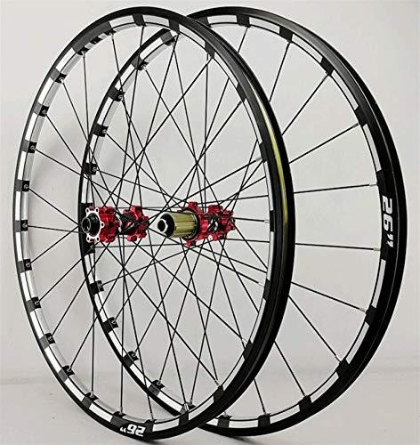 TYXTYX Ejes de liberación rápida Accesorio para Bicicleta Juego de Ruedas de Bicicleta MTB 26 27,5 29 Pulgadas Llantas de Bicicleta CNC Eje pasante Freno de Disco DH Ruedas de Ciclismo Buje de roda