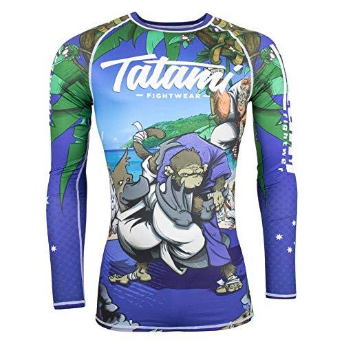 Tatami Rash Guard MMA Kompressionsshirt Omoplatapus BJJ Jiu Jitsu No-Gi, blau, Größe S