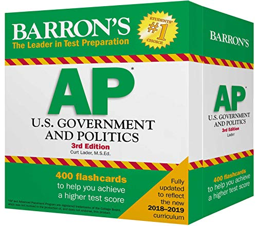AP U.S. Government and Politics Flash Cards (Barron's Test Prep)