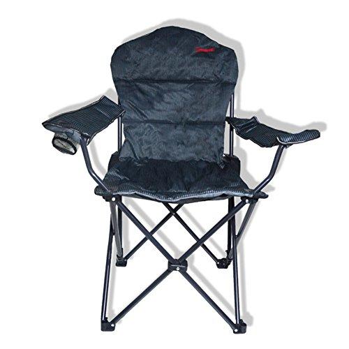 HM&DX Muchos para sillón plegable sillas tumbonas ajustable pesca portátil camping sillas al aire libre silla taburete nd-2913-negro