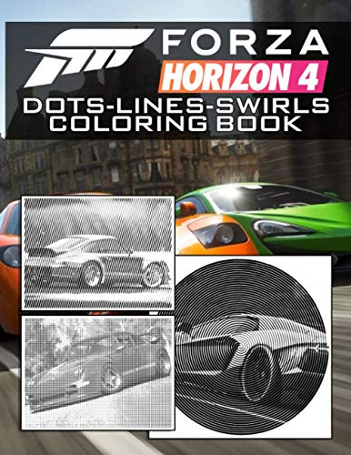 Forza Horizon 4 Dots Lines Swirls Coloring Book: Great Gift Activity Diagonal-Dots-Swirls Books For Adults