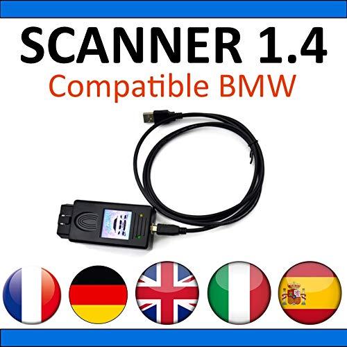 MISTER DIAGNOSTIC Escáner 1.4 Compatible con BMW - Diagnóstico Completo y programaciones - Diag Auto OBD2