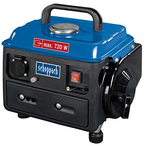Scheppach Stromerzeuger SG950 (Generator mit 720 W, 1,6 PS, 63cm³, 2-Takt-Benzinmotor, Seilzugstarter, 4 L Tank, Einzylinder)