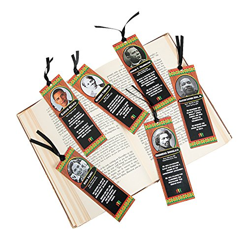 Fun Express Black History Month Bkmark Asst - 24 Pieces - Educational and Learning Activities for Kids