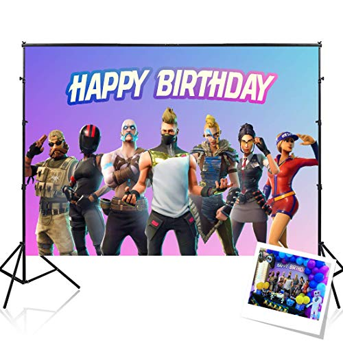 RAUBAY Battle Royale Birthday Party Supplies Decorations Backdrop for Boy - 7x5ft