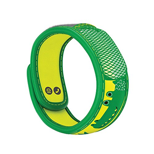 PARA'KITO Mosquito Insect & Bug Repellent Kids Wristband - Waterproof, Outdoor Pest Repeller Bracelet w/ Natural Essential Oils (Crocodile)