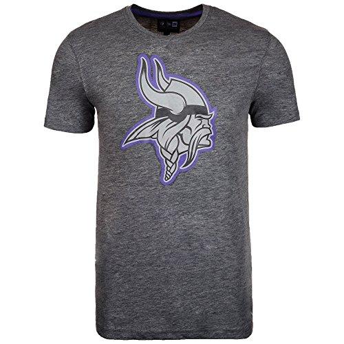 New Era Minnesota Vikings T Shirt Two Tone Pop Tee Heather Charcoal - L