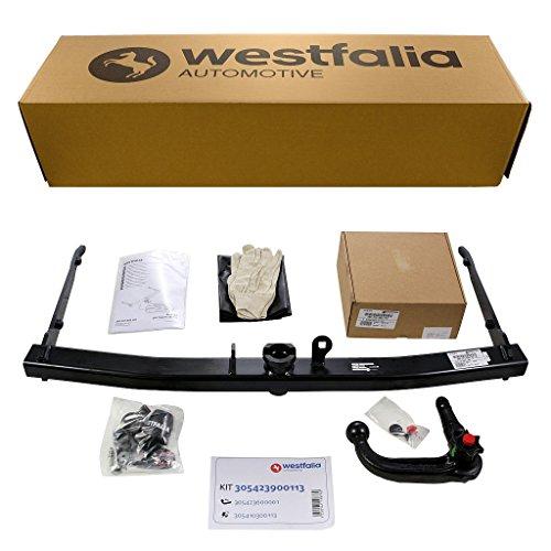 Westfalia abnehmbare Anhängerkupplung für Audi Q3 (ab BJ 09/2011) im Set mit 13-poligem fahrzeugspezifischen Westfalia Elektrosatz