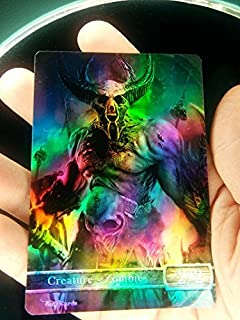 GnD Cards 1x Zombie #3 FOIL Laminated Custom Altered Tokens MTG Khans of Tarkir (for Empty The Pits)