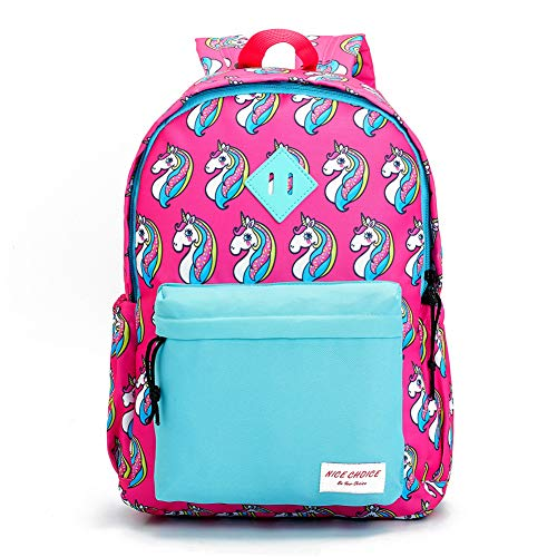 Preschool Backpack Little Kid Toddler Kindergarten School Backpacks for Boys and Girls with Chest Strap (Unicorn Blue)