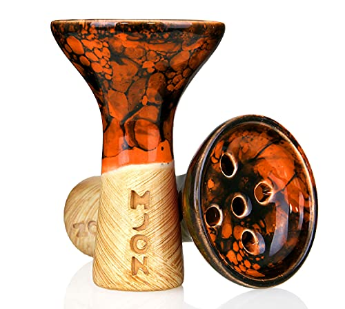 Moon Killer Bowl Mármol Naranja Negro (Cazoletas para Cachimbas)