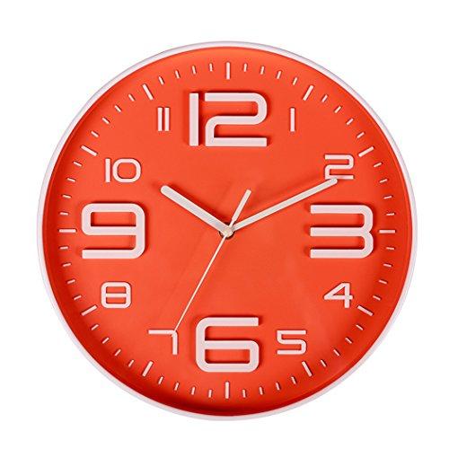 SonYo indoor Big 3D numero movimento silenzioso orologio da parete silenzioso sweep orologi da parete a batteria moderno 10 IN Sugarpine Air Mesh - Donna