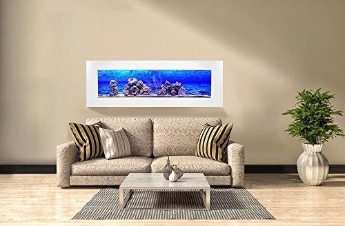 Aquário De Parede - Modelo Panorâmico Super - Para Peixinhos De Verdade (220 volts, Branco)