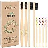 ORINKO - Lot de 4 Oriculis + 4 Brosses Dents En Bambou - Pack Zro Dchet - Cadeau Parfait [ ]