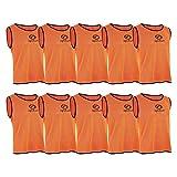 OPTIMUM Lot de 10 Maillots d'entraînement, Mixte, Training, Orange