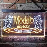 zusme Modelo Especial Beer Novelty LED Neon Sign White + Yellow W16 x H12