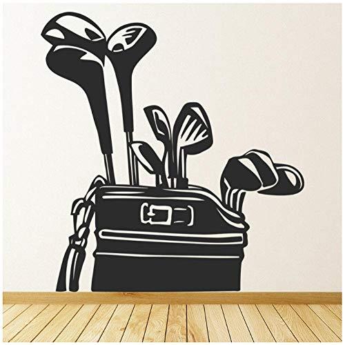 Golfschläger Wandtattoo Golfer Caddy Kunst Unterhaltung Tapete Sport 57x60 cm