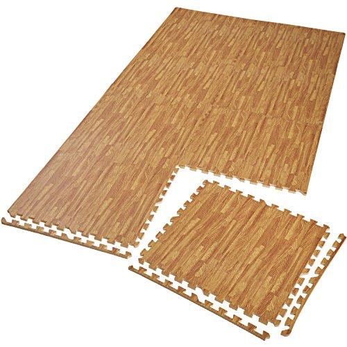 TecTake Schutzmattenset Bodenschutzmatte | rutschfest, schmutzabweisend | erweiterbares Stecksystem | Diverse Modelle (8X holzoptik | Nr. 402658)