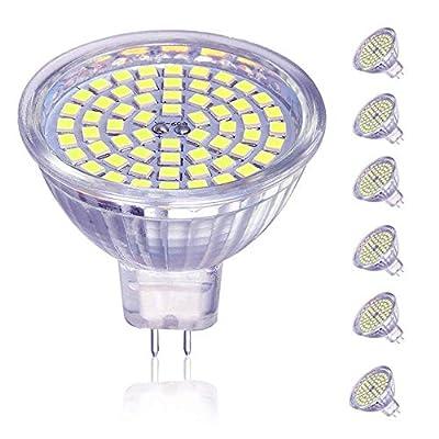 OTTOSEA MR16 LED Bulbs, GU5.3 LED Spotlight Bulbs,5W (50 Watt Equivalent), 12V ACDC, Daylight White 6000K, 120 Degree Beam Angle for Landscape,Recessed,Track Lighting, Non Dimmable, Pack of 6