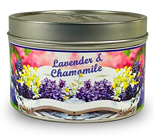 Our Own Candle Company Candle, Lavender Chamomile Mini Tin Candle, 5 Ounce (3 Pack)