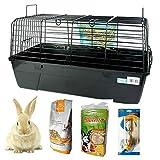DZL- Jaula para Conejos/cobayas Cierre de Seguridad Jaula casa para Animales pequeños Jaula Conejos con...