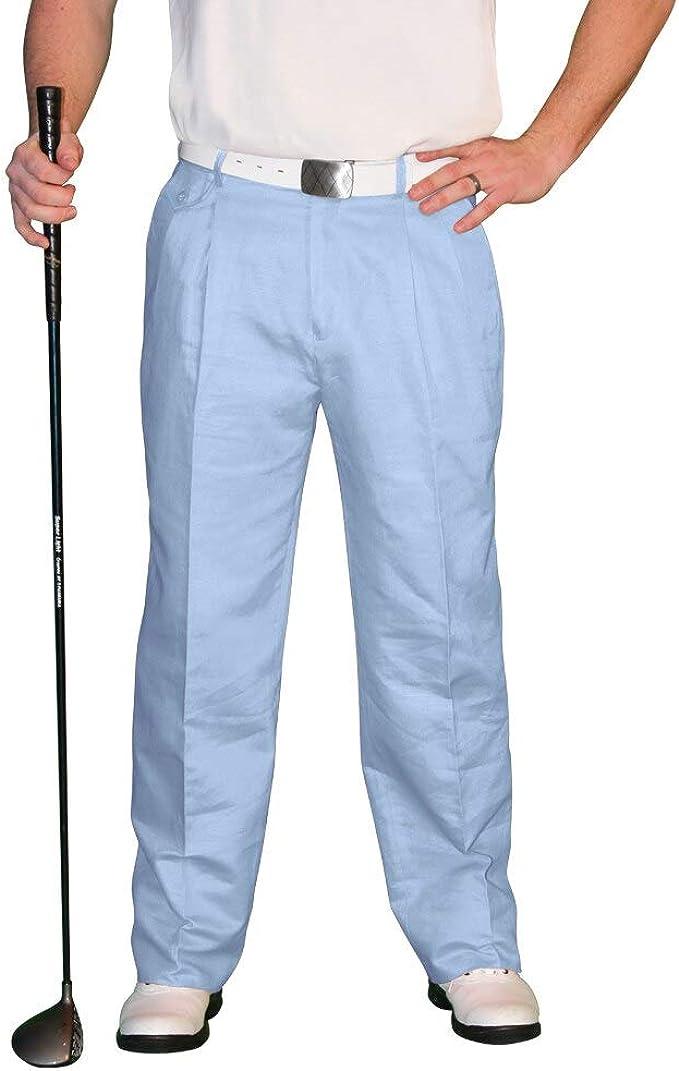 1950s Men's Pants, Trousers, Shorts | Rockabilly Jeans, Greaser Styles Light Blue Golf Trousers - Mens Par 4 Cotton  AT vintagedancer.com