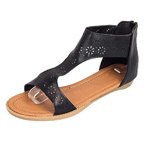 11ffd67ea1f Lolittas Ladies Leather Flat Platform Wedge Sandals Gladiator Greek  Style