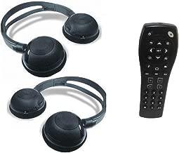 2 GM Compatible Headphones & Remote for Chevrolet Suburban, GMC Yukon, Cadillac Escalade, Uplander, Tahoe, Acadia, Buick Enclave, Chevy Equinox, Silverado, Traverse
