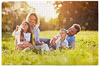 Custom Puzzle Customized Jigsaw Photo Puzzle for Adults Customize Puzzles from your Own Picture Gift Wedding, Family, Happy Memories 300/500/1000 Pieces