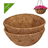 EEEKit 2PCS 14 Inches Round Coco Liners for Planters, Coco Fiber Replacement Liner for Han...