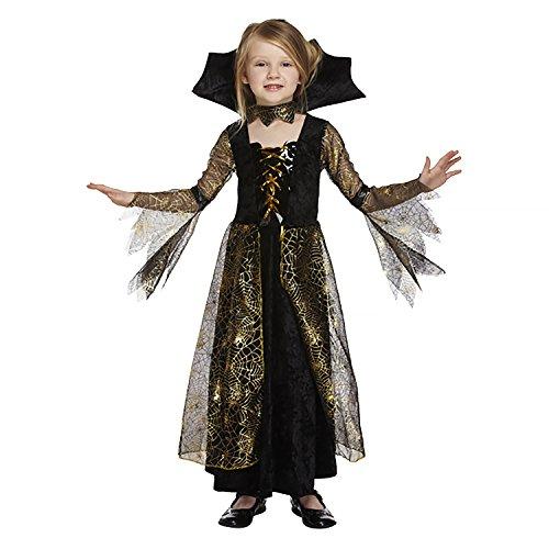 Salveo Girls Spiderella Vampiro Ragno Costume da Strega di Halloween Vestito per 4 – 12 Anni (7-9 Anni)