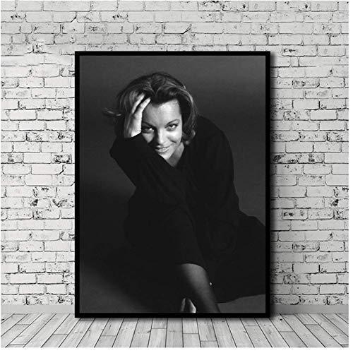 asfrata265 Wandkunst Poster Romy Schneider Poster Schauspielerin Star Leinwand Malerei Poster Druckt Leinwand Wandbild Für Home Room Decor No Frame 50X70Cm N103