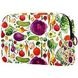 Regalo del día de la Madre Bolsas de cosméticos para Mujeres, Bolsas de Maquillaje Estuche Espacioso para artículos de tocador Accesorios de Viaje Regalos - Verduras Vegano Acuarela