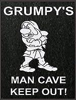 Grumpy's Man Cave Keep Out メタルポスタレトロなポスタ安全標識壁パネル ティンサイン注意看板壁掛けプレート警告サイン絵図ショップ食料品ショッピングモールパーキングバークラブカフェレストラントイレ公共の場ギフト