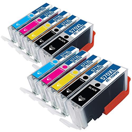 MC NOVA Cartuchos de tinta compatibles 570/571 XL para Canon PGI-570 CLI-571   PIXMA MG5750 TS5050 MG7700 MG7750 MG5751 MG5752 MG5753 MG6850 MG6851 MG6852 MG6852 3 MG77. 51