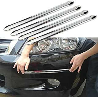 ATMOMO 4 Pcs Auto Car Body Bumper Guard Protector Sticker Anti-rub Bar Strip Car Bumper Strips