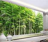 Wallpaper 3D Mural Hd Green Bamboo Forest Landscape 3D Wallpapers Murales de pared para sala de estar y dormitorio Decoración de pared Fotos de póster-350X256cm(LxA)