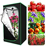 Bilisder Jardín Armario de Cultivo Interior Grow Tent Planta 80x80x160cm Grow Box Hidroponía con Ventana de Observación Se Puede Usar para Cultivar Flores/Hogar Plantar