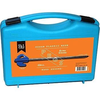 20 x Peg Vango Groundbreaker Tent Glow Pegs Set With Extractor /& Carry Case
