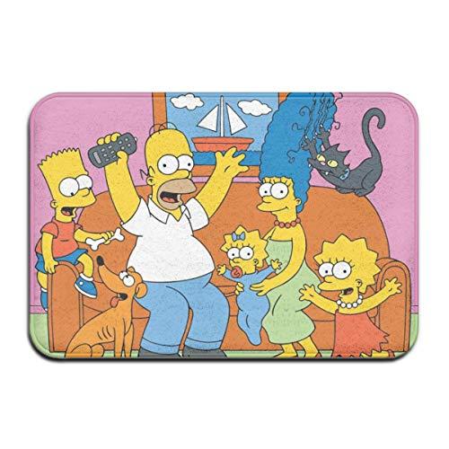 Odelia Palmer Alfombras de Dibujos Animados de Anime Simpsons Alfombras de Puerta de casa Alfombras de Entrada Antideslizantes Felpudos, 40X60cm DMT-036