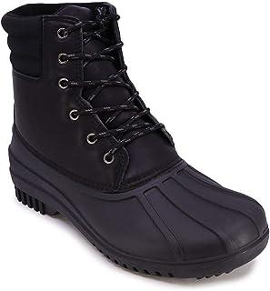 أحذية نوتيكا للرجال بطة - جزمة ثلج معزولة بغلاف مقاوم للماء - لون أخضر مائل إلى أسود-13