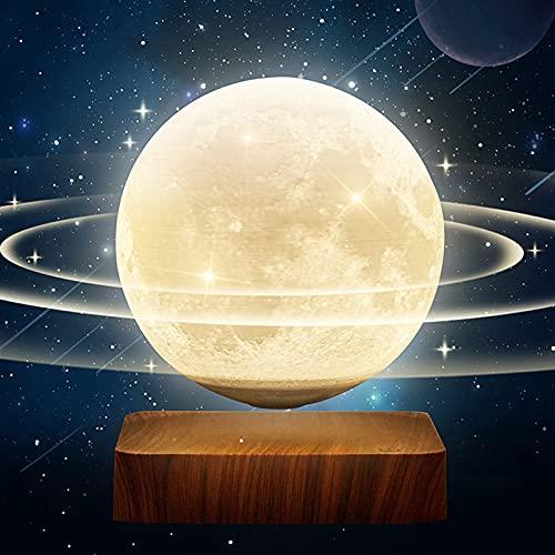 LED luz nocturna lámpara de noche quitamiedos mesita iluminación brillo táctil sensor de dormitorio sala Levitación magnética de la luna control tactil decoración de sala de estar oficina cafetería