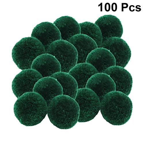 STOBOK 100 Piezas Bola de Fieltro de Navidad DIY Fieltro Pompones Guirnalda Bola de Lana Fuzzy Pom poms Artes artesanales Que Hacen Accesorios